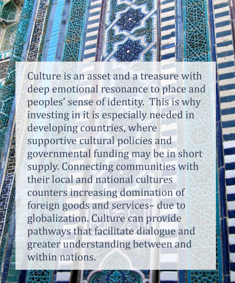 Capitalizing on cultural assets for dialogue and development