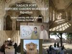 Baghe Babur historic garden workshop